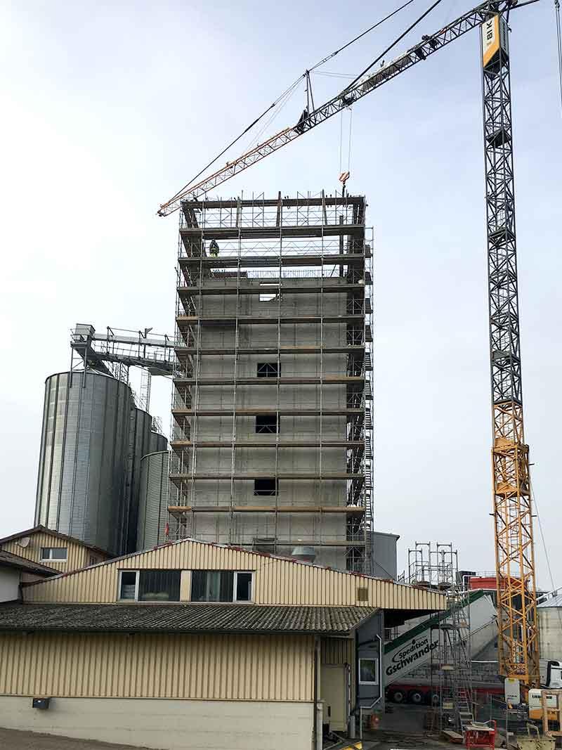 Neubau Reinigungsanlage Silo 2019 im Bau