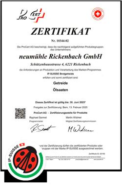 Zertifikat IP Suisse